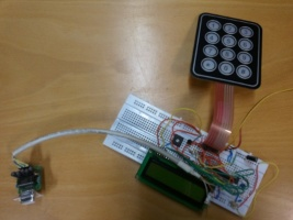 Breadboard I2C display